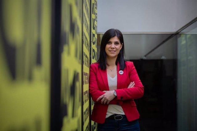 La secretària general adjunta i portaveu d'ERC al Parlament de Catalunya, Marta Vilalta posa durant una entrevista amb Europa Press a Barcelona, Catalunya (Espanya), el 31 de març del 2021.