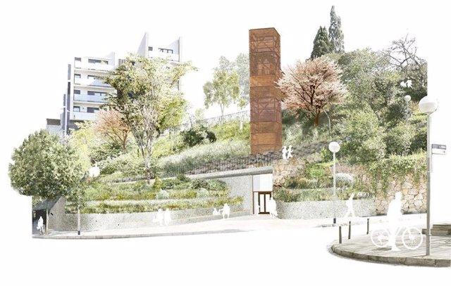 Comencen les obres de la segona fase d'adaptació de l'estació de metro de Vallcarca (Barcelona).