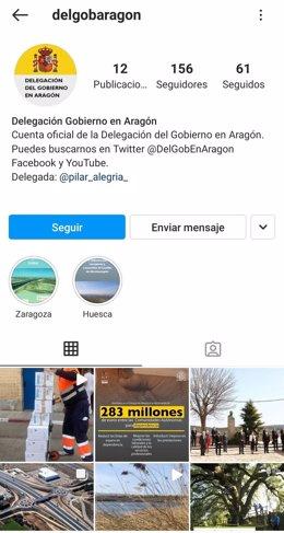 La Delegación del Gobierno en Aragón refuerza su presencia en redes sociales con nuevos perfiles en Instagram y YouTube.