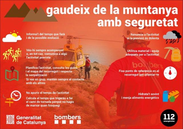 """Els Bombers demanen """"prudència"""" durant les activitats en parcs i espais naturals en Setmana Santa"""
