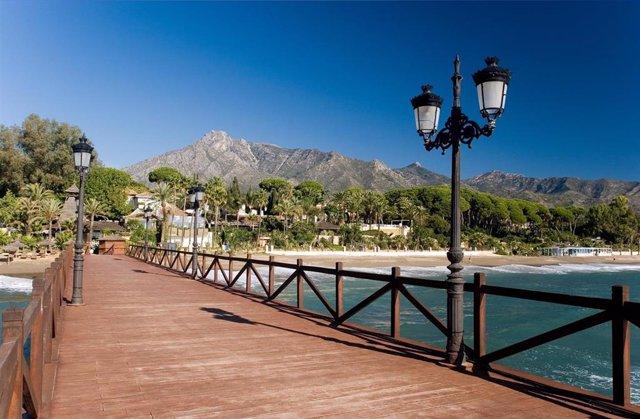 Playa de Nagüeles, en Marbella (Málaga)