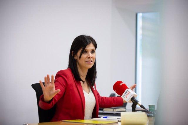 La secretària general adjunta i portaveu d'ERC al Parlament de Catalunya, Marta Vilalta, durant una entrevista amb Europa Press a Barcelona, Catalunya (Espanya), a 31 de març de 2021.