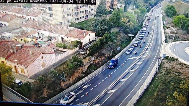 Una carretera de Manresa (Barcelona)