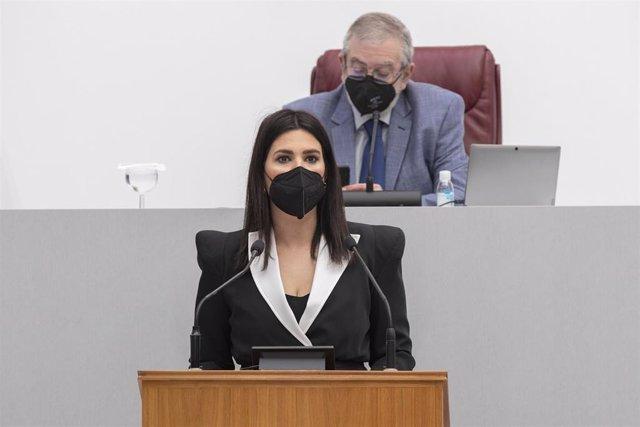 """Archivo - Guardiola (PP): """"Al PSOE se le olvida que los autónomos están en la cuerda floja por culpa el Gobierno de Sánchez"""""""