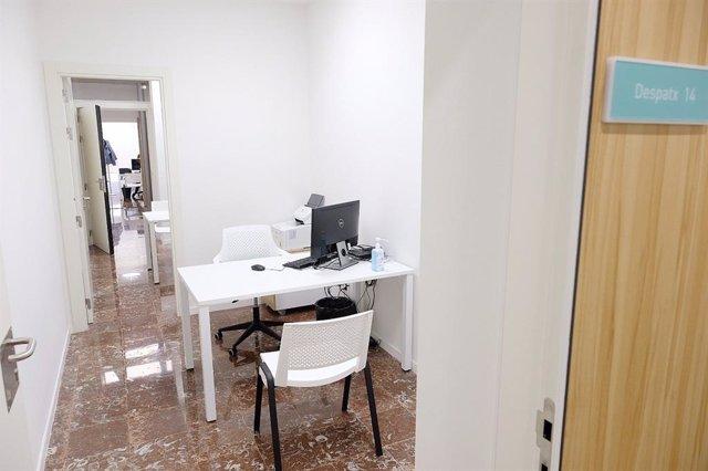 Consulta del Centro de Salud Mental y Adicciones del barrio de Gràcia de Barcelona