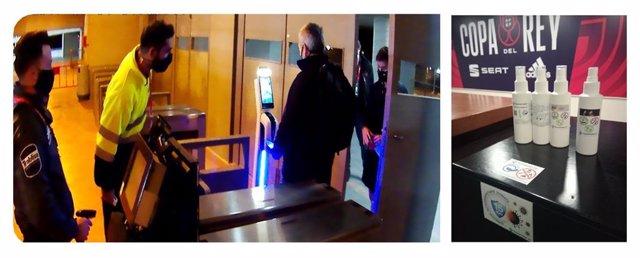 Control de temperatura y mascarilla en acceso a autoridades