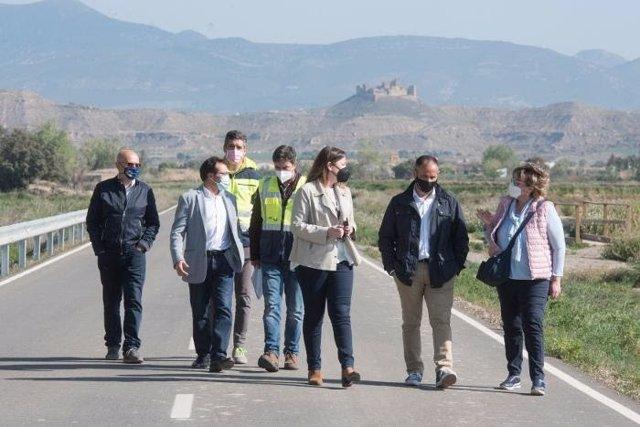 Visita a la carretera que une Tierz con Bellestar del Flúmen (Huesca).