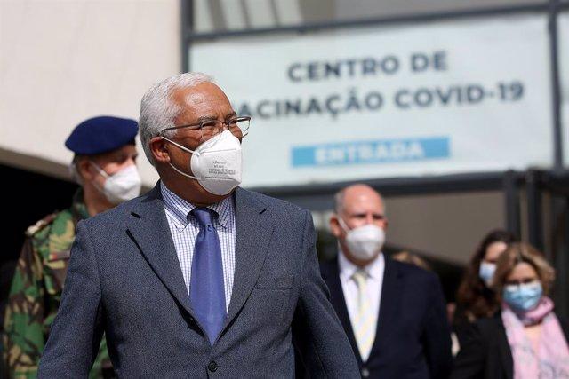 António Costa visita un centro de vacunación contra el coronavirus
