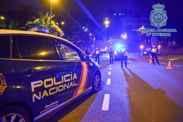 Archivo - Control de la Policía Nacional