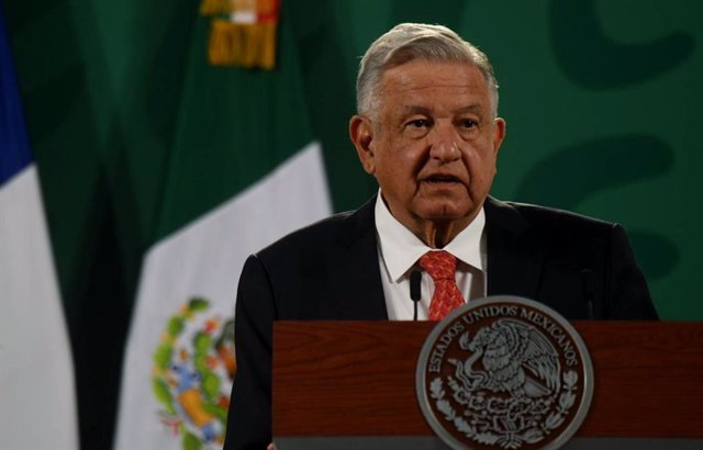 29 March 2021, Mexico, Mexico City: Mexican President Andres Manuel Lopez Obrador speaks during the inauguration of the Generation Equality Forum. Photo: -/El Universal via ZUMA Wire/dpa
