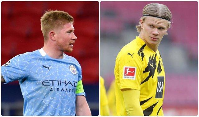 De Bruyne (City) y Haaland (Dortmund)