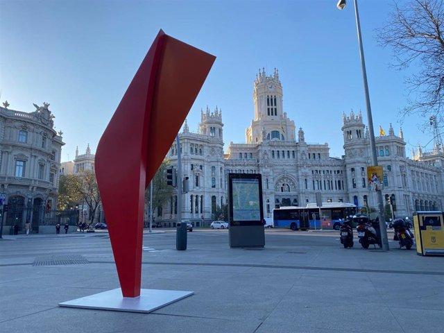 Una de las esculturas que han aparecido en Madrid