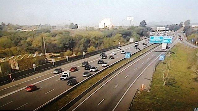 Imatge d'una carretera a Catalunya a la Setmana Santa 2020