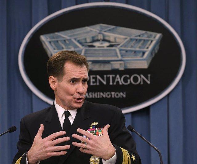 Archivo - El portavoz del Pentágono, John Kirby.