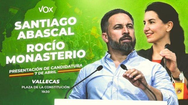 Presentación de candidatura de Vox en Vallecas.