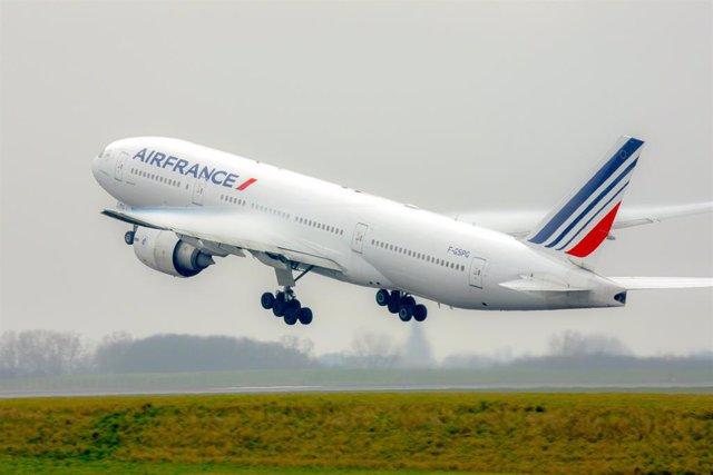 Archivo - Avión de Air France
