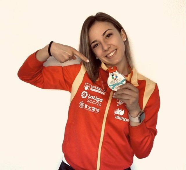 La karateca española Lidia Rodríguez aspira a suceder a Sandra Sánchez.