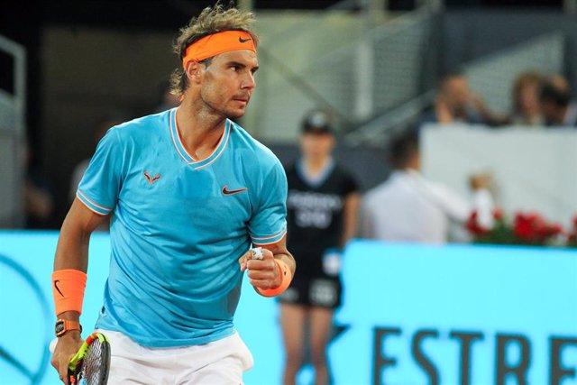 Archivo - Rafa Nadal en el Mutua Madrid Open 2019