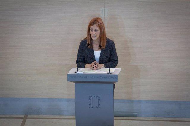 La líder dels comuns al Parlament, Jéssica Albiach (Arxiu)