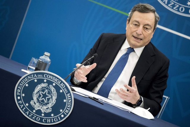El primer ministro italiano Mario Draghi