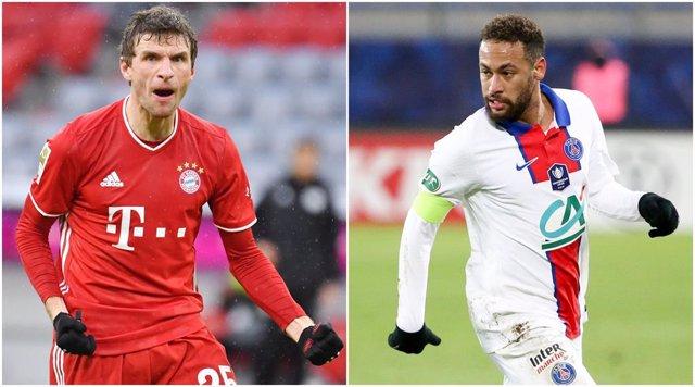 Muller (Bayern) y Neymar (PSG)