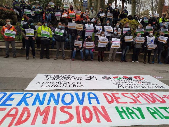 Protesta de trabajadores de Aernnova