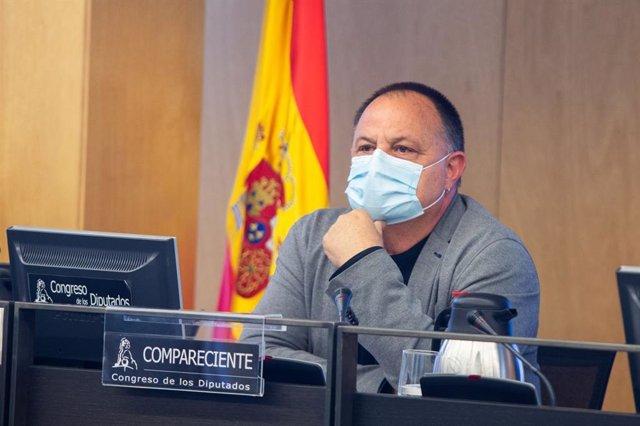 Agustín Martín, secretario general de Industria de CCOO, comparece ante la Comisión de Industria, Comercio y Turismo del Congreso