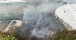 Incendio en Torrox (Málaga)