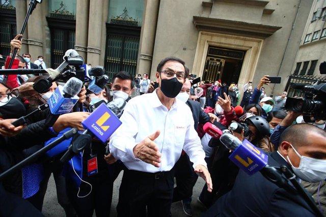Archivo - El expresidente peruano Martín Vizcarra