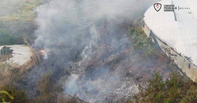 Imagen del incendio agrícola en Torrox