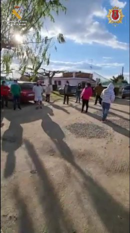 Fiesta ilegal en casa de campo de Alfaro (La Rioja)