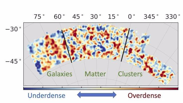 Mapa de densidad del Dark Energy Survey (DES)