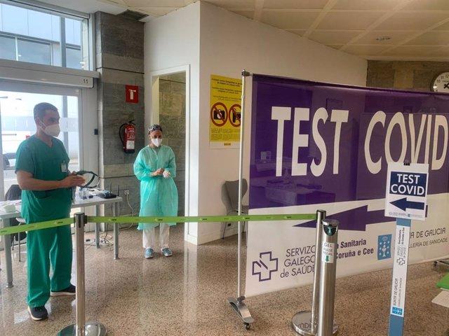 Cribado en el aeropuerto de Alvedro