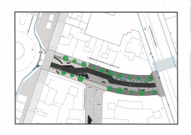 Archivo - El Ayuntamiento convertirá en peatonal la calle Guardia Civil a partir de la próxima primavera