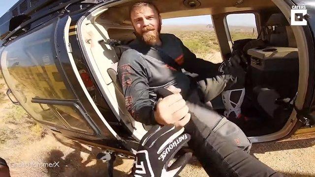 Un motorista graba el rescate en helicóptero de su hermano con una pierna rota