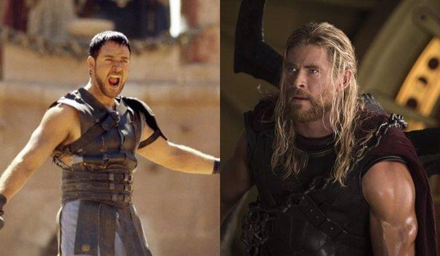 Chris Hemsworth sería el hijo de Russell Crowe en Gladiator 2