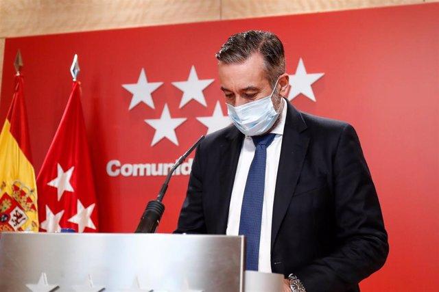 Archivo - El consejero de Justicia, Interior y Víctimas, Enrique López