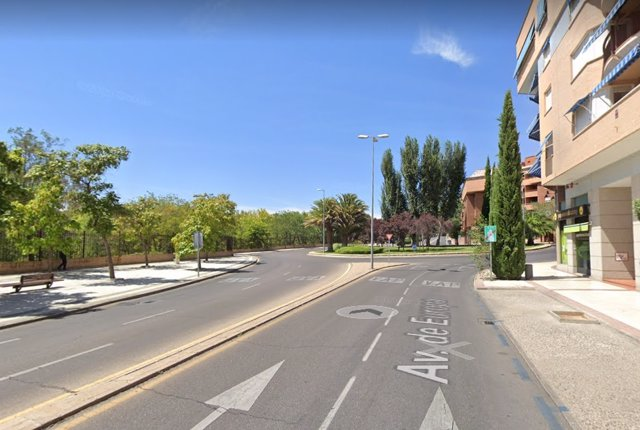 Imagen de la Avenida de Europa de Toledo en Google Street View