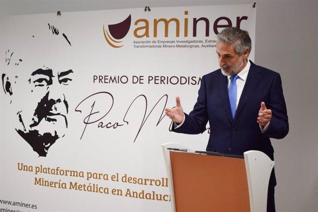 Eduardo Barba gana el I Premio de periodismo 'Paco Moreno' sobre minería metálica andaluza de Aminer