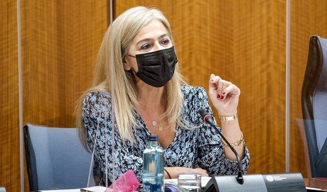 Archivo - La consejera de Cultura y Patrimonio Histórico, Patricia del Pozo, en comisión parlamentaria