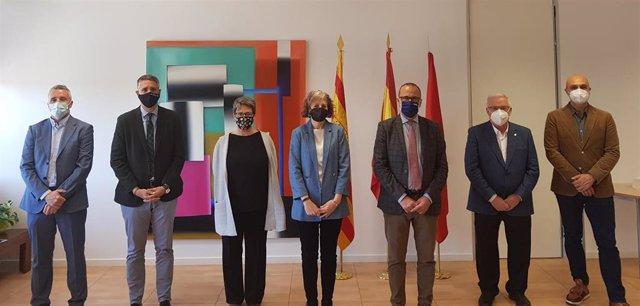 Aragón y Navarra establecen grupos de trabajo para llegar a acuerdos en materia de Cultura, Patrimonio y Deporte.
