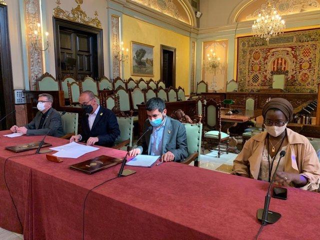Joan Talarn, Miquel Pueyo, Chakir el Homrani i Mariama Sall.
