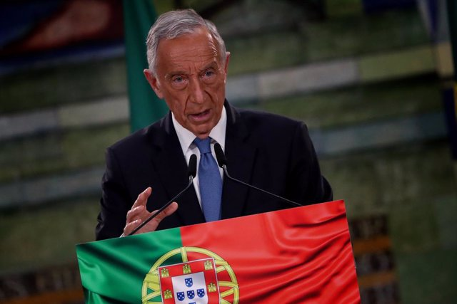 Archivo - 25 January 2021, Portugal, Lisbon: Portuguese President Marcelo Rebelo de Sousa speaks during a press conference after winning the Presidential Election. Photo: Pedro Fiuza/ZUMA Wire/dpa