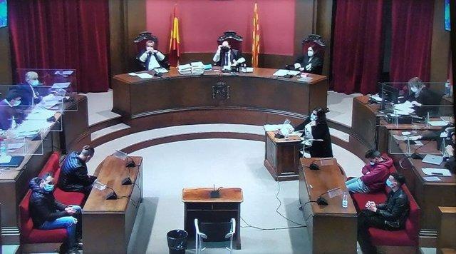 Declaracions durant la segona sessió del judici de la 'manada de Sabadell', el 7 d'abril del 2021.