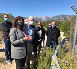 La consellera d'Agricultura, Teresa Jordà, en una visita al regadiu Xerta-Sénia.