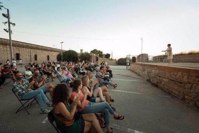 Imatge de l'edició 2020 del Festival Píndoles al Castell de Montjuïc de Barcelona (Arxiu)