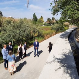 Visita de la Junta a Huétor Vega (Granada)
