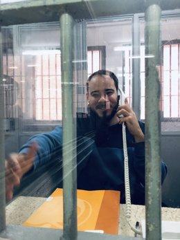 Archivo - Imatge de Pablo Hasél dins la presó de Lleida que ha publicat el diputat de la CUP al Congrés Albert Botran.