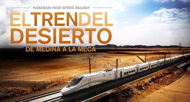 Cartel del documental 'El tren del desierto'