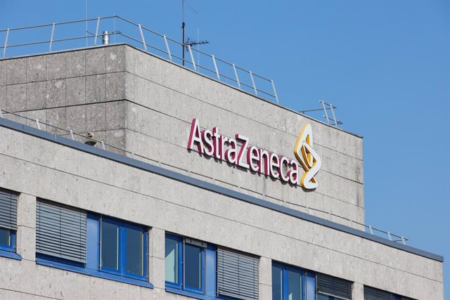 31 March 2021, Schleswig-Holstein, Wedel: The logo of the international pharmaceutical company Astrazeneca is seeon on the company's building in Wedel town. AstraZeneca says it respects this week's decision by Germany to restrict the use of the Oxford-Ast